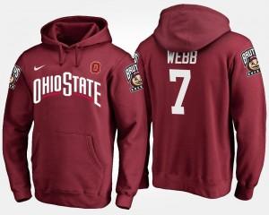#7 Scarlet Damon Webb OSU Hoodie Mens Name and Number