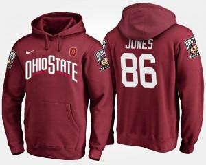 Scarlet Name and Number Dre'Mont Jones OSU Buckeyes Hoodie #86 Mens