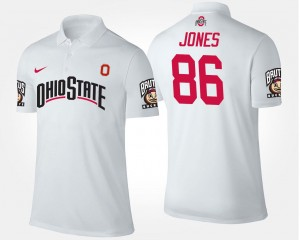 Name and Number White Dre'Mont Jones Ohio State Polo #86 For Men