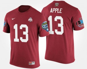 Eli Apple OSU T-Shirt Bowl Game #13 Men's Big Ten Conference Cotton Bowl Scarlet