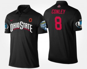 #8 Black Mens Gareon Conley Ohio State Polo Big Ten Conference Cotton Bowl Name and Number Bowl Game