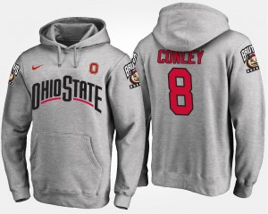 #8 Men Gareon Conley Ohio State Hoodie Name and Number Gray