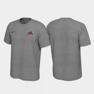 Ohio State Buckeyes T-Shirt Mens Legend Heathered Gray Left Chest Logo