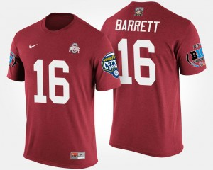 Scarlet #16 Bowl Game Big Ten Conference Cotton Bowl J.T. Barrett Ohio State T-Shirt Men's