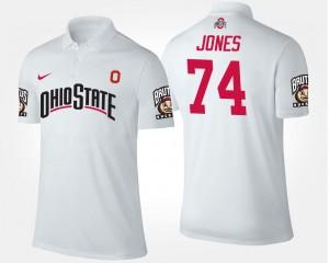 Name and Number Mens #74 White Jamarco Jones Ohio State Polo
