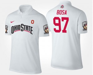 Mens Name and Number White #97 Joey Bosa Ohio State Polo