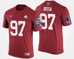 Scarlet Big Ten Conference Cotton Bowl Bowl Game #97 Joey Bosa Ohio State T-Shirt Mens