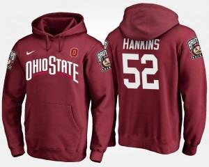 Johnathan Hankins Ohio State Buckeyes Hoodie #52 Name and Number Mens Scarlet