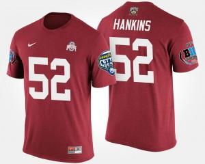 Scarlet Mens #52 Bowl Game Johnathan Hankins OSU Buckeyes T-Shirt Big Ten Conference Cotton Bowl