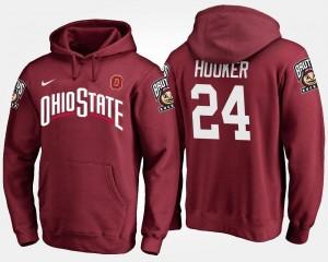Name and Number Malik Hooker Ohio State Hoodie #24 For Men Scarlet