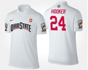 #24 Name and Number White Malik Hooker Ohio State Polo Men