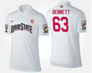 Michael Bennett OSU Polo Name and Number #63 For Men White
