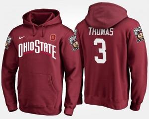Michael Thomas OSU Buckeyes Hoodie Scarlet Name and Number #3 Men