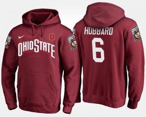 Name and Number For Men Sam Hubbard OSU Buckeyes Hoodie #6 Scarlet