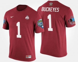 No.1 Big Ten Conference Cotton Bowl Name and Number Bowl Game Men Scarlet #1 Ohio State T-Shirt