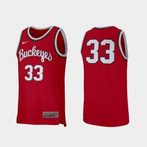 Ohio State Jersey Retro Performance Nike College Basketball For Men's Scarlet #33
