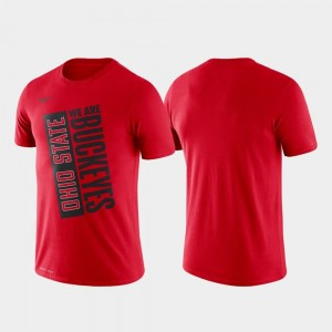 Nike Basketball Performance Men's Just Do It Ohio State T-Shirt Scarlet