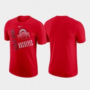 Ohio State Buckeyes T-Shirt Men Just Do It Scarlet Nike Performance Cotton