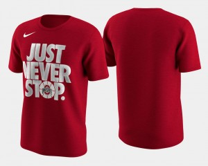 Basketball Tournament Just Never Stop OSU T-Shirt For Men's Scarlet March Madness Selection Sunday