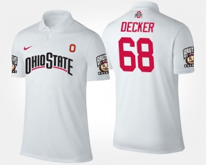 Taylor Decker Ohio State Polo White #68 For Men Name and Number
