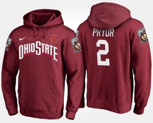 Name and Number For Men Scarlet Terrelle Pryor Ohio State Hoodie #2