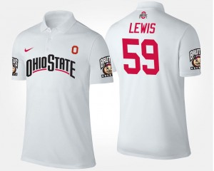 Tyquan Lewis Ohio State Polo #59 White Name and Number For Men