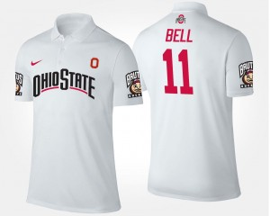 Name and Number #11 Vonn Bell OSU Buckeyes Polo Mens White