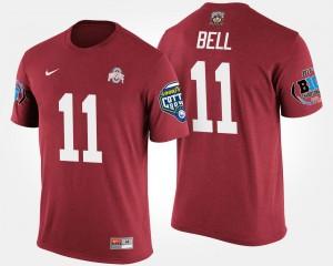 Mens Scarlet Big Ten Conference Cotton Bowl Vonn Bell Ohio State T-Shirt #11 Bowl Game
