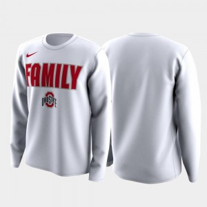 Ohio State Buckeyes T-Shirt Men's Family on Court White March Madness Legend Basketball Long Sleeve