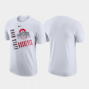 Nike Performance Cotton White OSU T-Shirt Just Do It For Men's