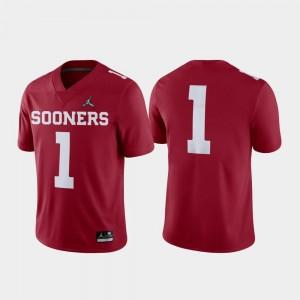 #1 Oklahoma Sooners Jersey 2018 College Football Playoff Crimson Game Jordan Brand For Men
