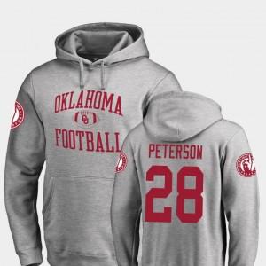 Mens Ash Neutral Zone Fanatics Branded College Football Adrian Peterson Oklahoma Sooners Hoodie #28