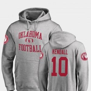 Neutral Zone Fanatics Branded College Football #10 Austin Kendall Sooners Hoodie Men Ash