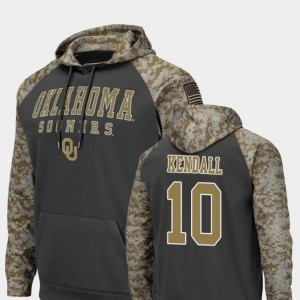 Austin Kendall OU Sooners Hoodie #10 For Men's United We Stand Charcoal Colosseum Football