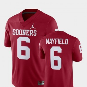 Alumni Football Game Crimson Player Jordan Brand Baker Mayfield OU Sooners Jersey Mens #6