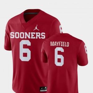 Crimson Men's College Football Jordan Brand Baker Mayfield OU Jersey #6 Game