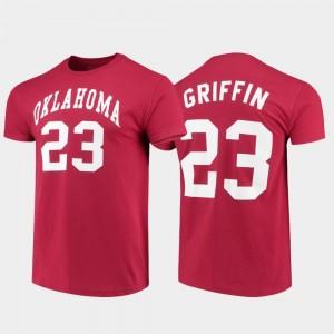 Original Retro Brand College Alumni Basketball Blake Griffin Oklahoma Sooners T-Shirt Crimson #23 College Basketball For Men