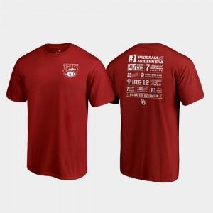 Fanatics Branded Champ Stats Men's OU T-Shirt 125th Football Season Crimson