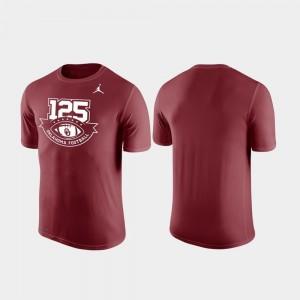 125th Football Season For Men's Jordan Brand Legend Crimson Oklahoma Sooners T-Shirt