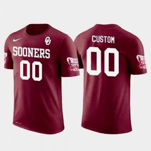 #00 Men's Future Stars Crimson Oklahoma Sooners Customized T-Shirt Cotton Football