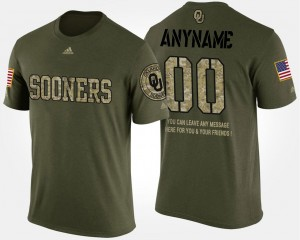 Short Sleeve With Message #00 Military For Men's Sooners Custom T-Shirt Camo