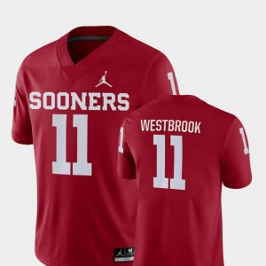 Dede Westbrook Oklahoma Jersey College Football Jordan Brand #11 Men Game Crimson