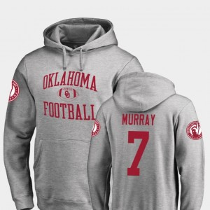 DeMarco Murray Oklahoma Hoodie #7 Fanatics Branded College Football Neutral Zone Ash For Men