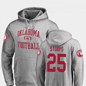 Fanatics Branded College Football Drake Stoops Oklahoma Sooners Hoodie #25 Neutral Zone For Men Ash