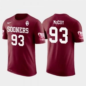 Crimson Future Stars #93 Mens Gerald McCoy Oklahoma T-Shirt Tampa Bay Buccaneers Football