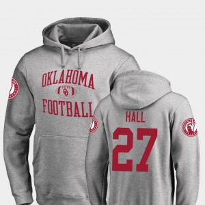 #27 Jeremiah Hall Oklahoma Hoodie Neutral Zone Fanatics Branded College Football Mens Ash