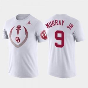 Performance For Men's Football Icon Kenneth Murray Oklahoma Sooners T-Shirt #9 White