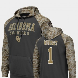 Charcoal United We Stand Men's Kyler Murray OU Sooners Hoodie #1 Colosseum Football
