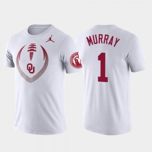 For Men's #1 Performance Kyler Murray OU Sooners T-Shirt White Football Icon