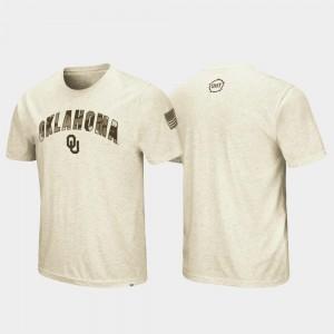 OU Sooners T-Shirt Oatmeal OHT Military Appreciation Men's Desert Camo
